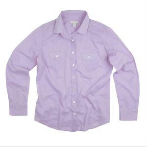 JCREW Purple Semi Sheer Cotton Camp Shirt